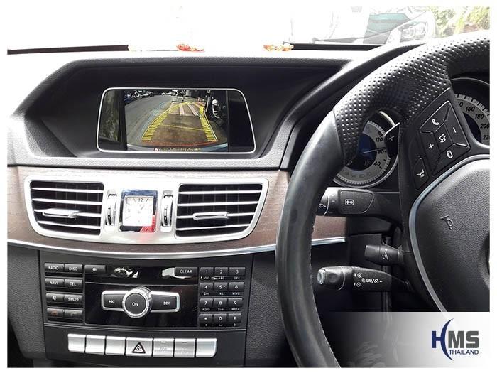 20180814 Mercedes Benz E200_W212_Rear camera_View,Rear camera,จอถอยหลัง,กล้องมองหลัง,กล้องถอยหลัง,หมุนตามพวงมาลัย,PAS,Park assistant system,