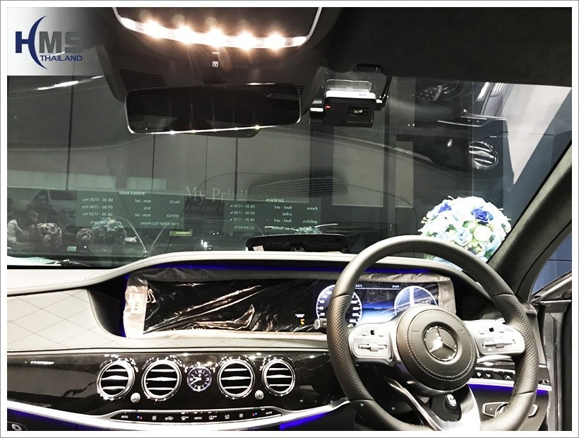 20180427 กล้องติดหน้ารถ  Thinkware F800 Pro บน Mercedes Benz S350d W222