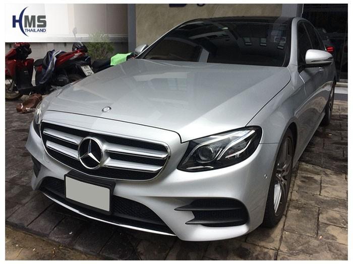 20180806 Mercedes Benz E220_W213_front,ติดกล้องติดรถยนต์ Thinkware F800 Pro บน Mercedes Benz E220d โดย HMS Thailand