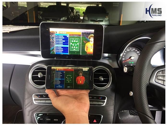 20180629 Mercedes Benz C350e_W205_Wifi_box,, carplay , android auto, screen mirroring, ภาพมือถือขึ้นจอรถยนต์ , Screen mirror, mirror link, car wifi display, car wifi ,
