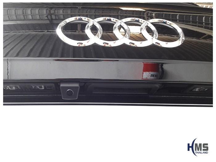 20180831 Audi Q5 back_Rear camera,งานติดตั้งกล้องถอยท้ายรถ AUDI Q5 ของ HMS Thailand