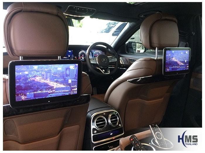 20180831 Mercedes Benz S350_W222_TV Digital_ASUKA_HR600_3Monitor,ต่อภาพจากทีวีดิจิตอลออกหน้าจอในรถ Mercedes Benz S350d W222 โดยทีมงาน HMS Thailand
