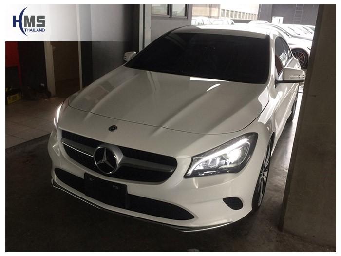 20180815 Mercedes Benz CLA200_C117_front,ติดกล้องติดรถยนต์ Mio MiVue 786 Wifi และ MiVue A30 บนรถ Mercedes Benz CLA200 C117