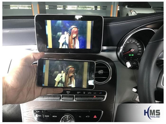 20180811 Mercedes Benz C350e_W205_Wifi box_Movie, carplay , android auto, screen mirroring, ภาพมือถือขึ้นจอรถยนต์ , Screen mirror, mirror link, car wifi display, car wifi ,