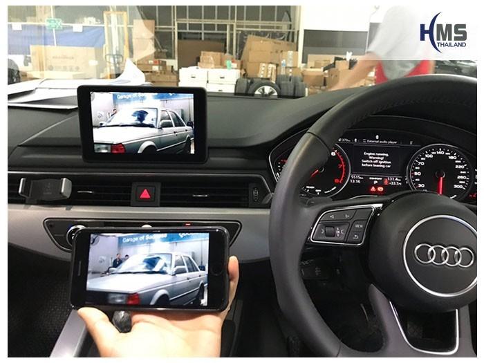 20180921Audi A5 Wifi box App,ภาพจากมือถือไปออกที่หน้าจอของรถ Audi A5 ด้วย Screen Mirror