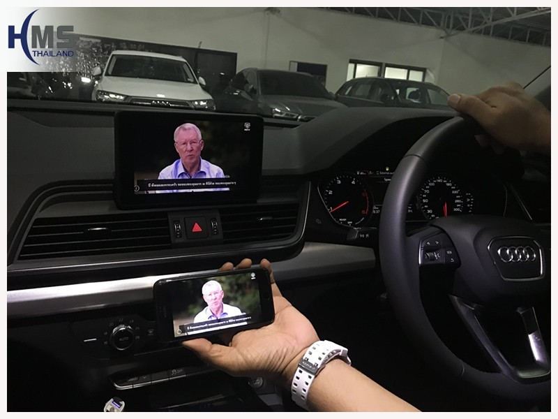 20180726 Audi Q5_Wifi box_Home menu,carplay, android auto, screen mirroring, ภาพจากมือถือขึ้นจอรถ ,Screen mirror, mirror link, car wifi display, car wifi