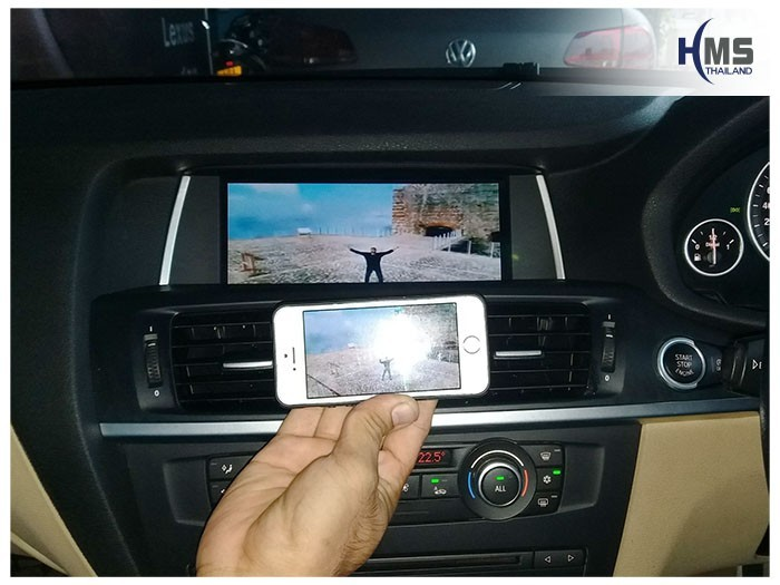 20180619 BMW X3 F25_Wifi_box,, carplay , android auto, screen mirroring, ภาพมือถือขึ้นจอรถยนต์ , , thinkware, Blackvue,carcamkorea , test drive