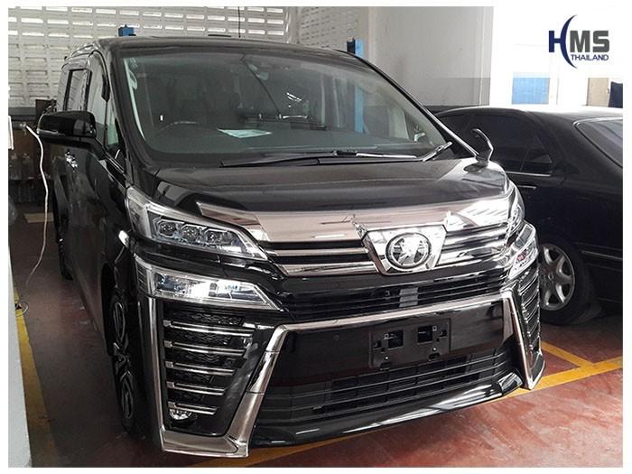 20180903 Toyota Vellfire_front,รถ Toyota Vellfire ติดตั้งวิทยุและจอเพดานโดย HMS Thailand