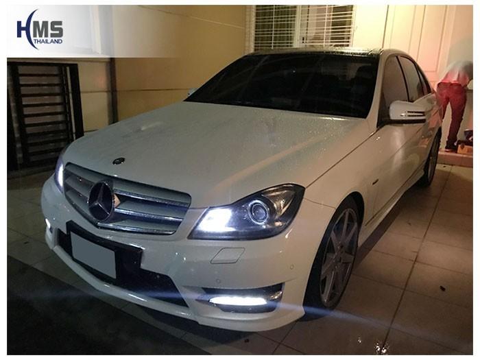 20180903 Mercedes Benz C180_W204_front,รถ Mercedes Benz C180 W204 ติดตั้งกล้องติดรถยนต์โดย HMS Thailand