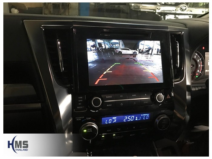 20180809 Toyota Vellfire_KD9000_Rear camera_View,Rear camera,จอถอยหลัง,กล้องมองหลัง,กล้องถอยหลัง,หมุนตามพวงมาลัย,PAS,Park assistant system,