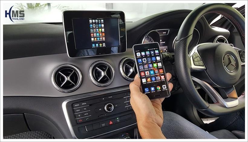 Wifi Mirror Link,กล่องรับสัญญาณไวไฟ, Benz GLA250,