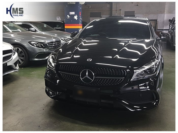 20180620 Mercedes Benz CLA250_C117_front,ติดตั้งกล้องหน้ารถ บน Mercedes Benz CLA250