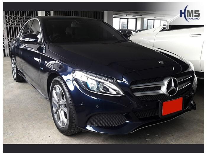 20180804 Mercedes Benz C350e_W205_front,ติดกล้องติดหน้ารถ Mercedes Benz C350e W205 โดย HMS Thailand