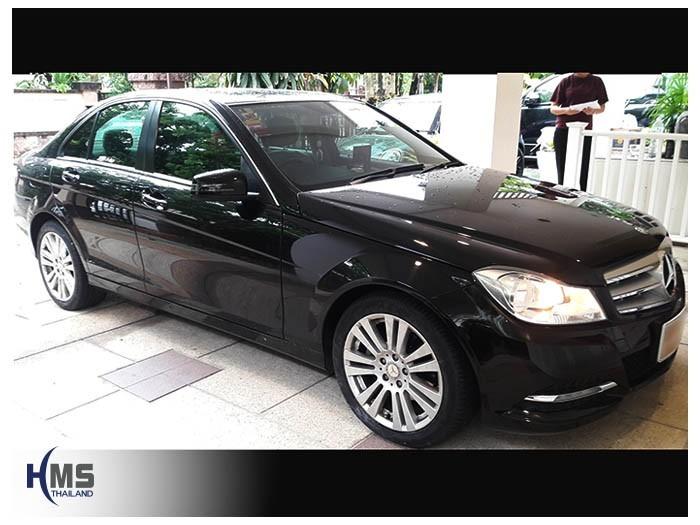 20180615 Mercedes Benz C200_W204_side,ติดตั้งกล้องมองหลังรถ Mercedes Benz C200,