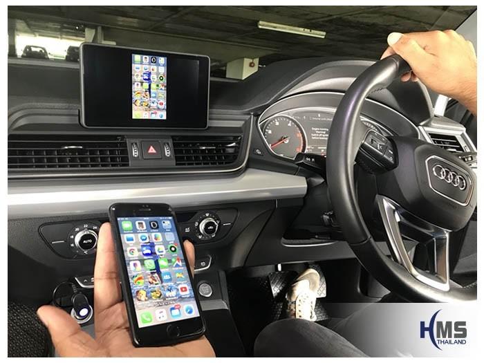20180820 Audi Q5_Wifi box_Home menu,carplay, android auto, screen mirroring, ภาพจากมือถือขึ้นจอรถ ,Screen mirror, mirror link, car wifi display, car wifi