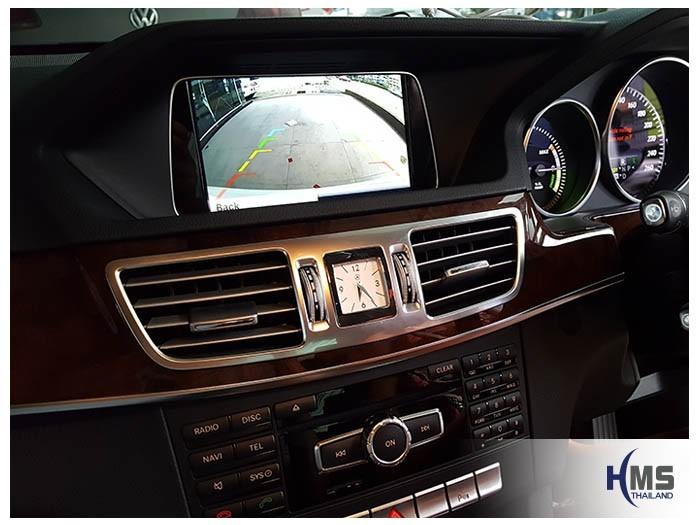 20180611 Mercedes Benz E300_W212_rear_camera_view,หมุนตามพวงมาลัย,PAS,Park assistant system,กล้องถอยหลัง,กล้องมองหลัง