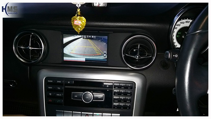20180706 Mercedes Benz SLK200 R172_Rear camera_view,Rear camera,จอถอยหลัง,กล้องมองหลัง,กล้องถอยหลัง,หมุนตามพวงมาลัย,PAS,Park assistant system