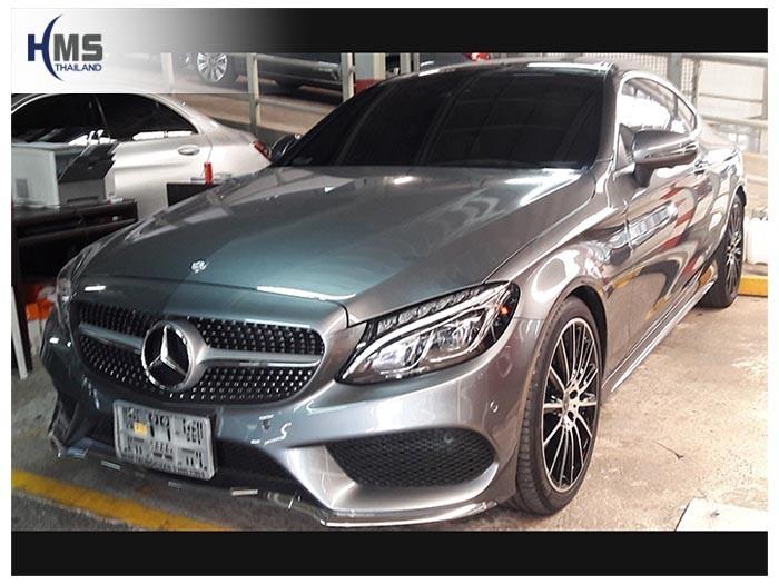20180816 Mercedes Benz C250_Coupe_ W205_front,ติดกล้องติดรถยนต์บนรถ Mercedes Benz C250 Coupe