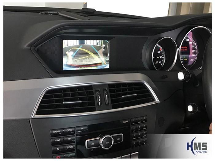 20180815 Mercedes Benz C200_W204_rear camera_View,Rear camera,จอถอยหลัง,กล้องมองหลัง,กล้องถอยหลัง,หมุนตามพวงมาลัย,PAS,Park assistant system