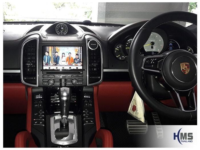 20180525 Porsche Cayenne_PCM3.1_TV digital_Asuka_HR600_TV_View,ทีวีดิจิตอล,ดิจิตอลทีวี,ทีวีติดรถยนต์,TV ติดรถยนต์,ทีวีในรถ,ทีวีรถยนต์