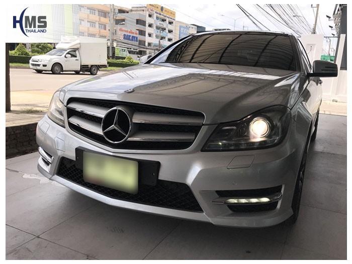 20180604 Mercedes Benz C180 W204_front,ผลงานติดตั้งกล้องติดรถยนต์