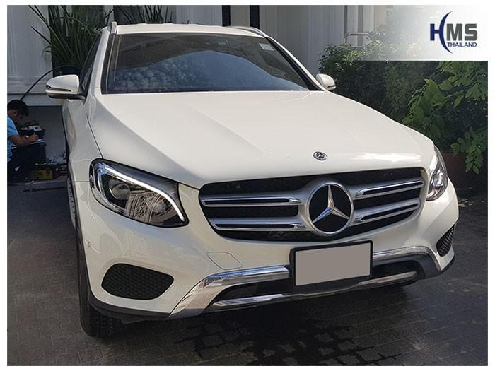 20180901 Mercedes Benz GLC250d_front,ภาพหน้ารถ Mercedes Benz GLC250d W253 ติดตั้งกล้องติดรถยนต์โดยทีมงาน HMS Thailand