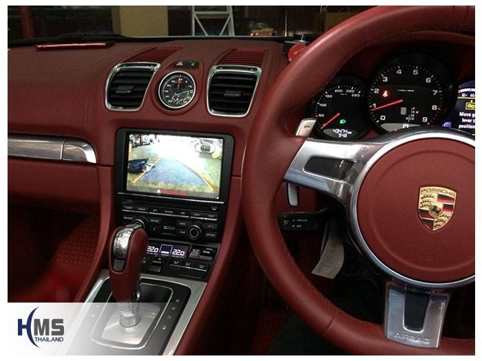 20180807 Porsche Boxter_PCM3.1_rear camera_View, Rear camera,จอถอยหลัง,กล้องมองหลัง,กล้องถอยหลัง,หมุนตามพวงมาลัย,PAS,Park assistant system