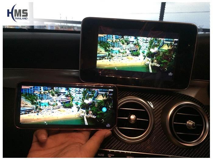 20180903 Mercedes Benz C250_Coupe_W205_Wifi_box_Movie,ภาพวีดีโอจากมือถือไปออกที่หน้าจอของรถ Mercedes Benz C250 Coupe W205