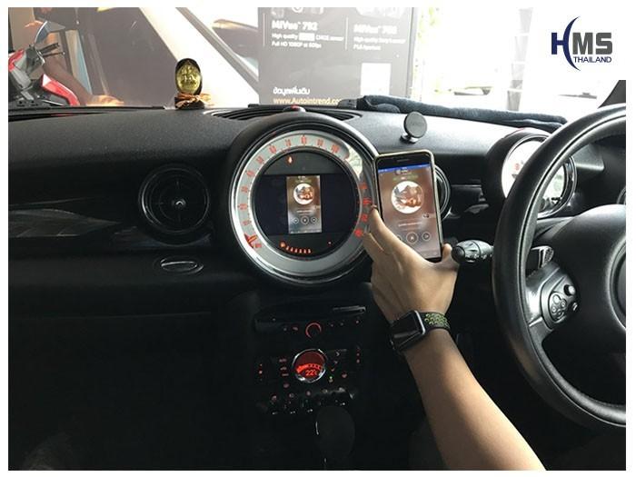 20180821 Mini CooperS_Wifi box_home,carplay , android auto, screen mirroring, ภาพมือถือขึ้นจอรถยนต์