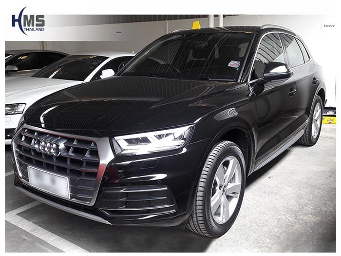20180831 Audi Q5 front,รถ Audi Q5 ติดตั้งกล้องมองหลังโดย HMS Thailand