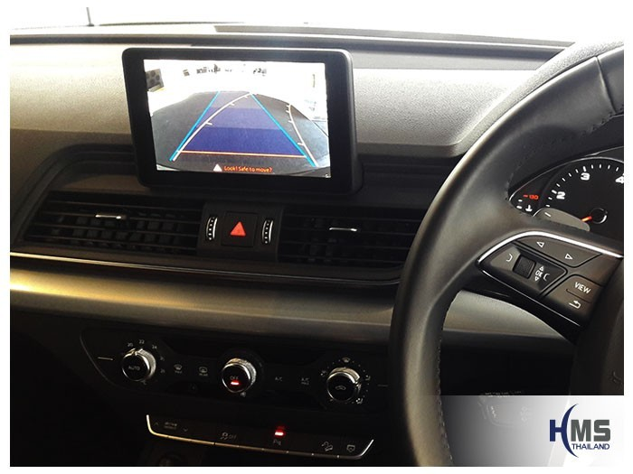 20180811 Audi Q5_Rear camera_View,Rear camera,จอถอยหลัง,กล้องมองหลัง,กล้องถอยหลัง,หมุนตามพวงมาลัย,PAS,Park assistant system