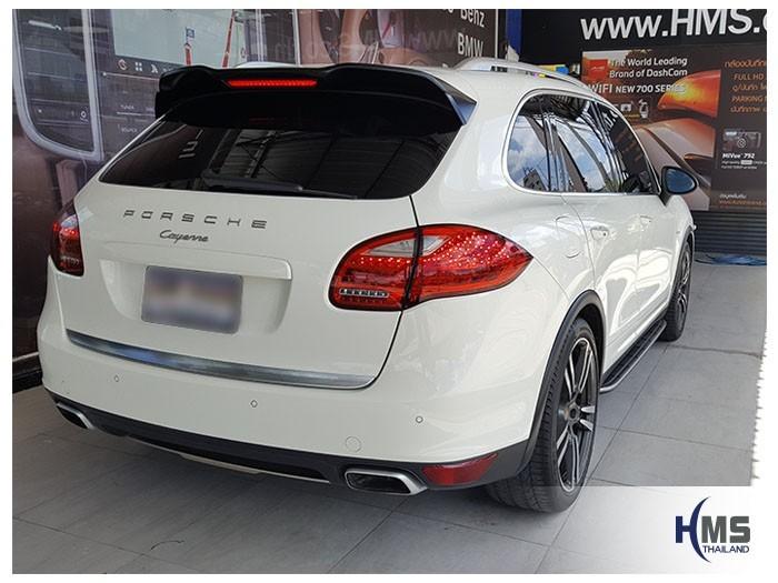 20180605 Porsche Cayenne_back,ติดตั้งกล้องบันทึกรถ Porsche Cayenne,