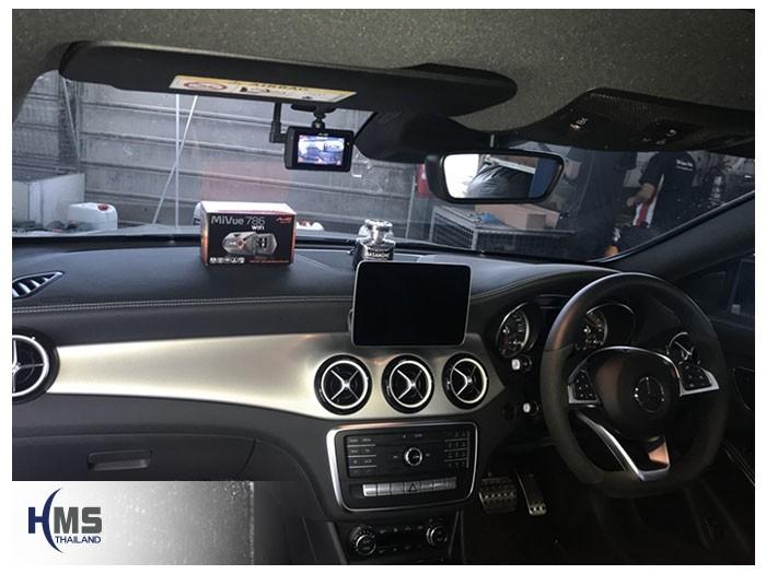20180831 Mercedes Benz CLA250_C117_DVR_Mio_MiVue_786_Wifi,กล้องติดรถยนต์ Mio MiVue 786 Wifi ติดตั้งหน้ารถ Mercedes Benz CLA250