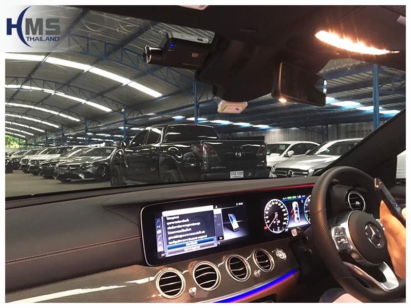 20190606 Mercedes Benz E350e W213_DVR_Thinkware_Q800_front,กล้องติดรถยนต์ Thinkware Q800 ตัวหน้าติดตั้งหน้ารถ Mercedes Benz E350e