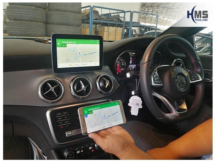 20180623 Mercedes Benz GLA250_W156_Wifi_box_Navigation,carplay , android auto, screen mirroring, ภาพมือถือขึ้นจอรถยนต์ , Screen mirror, mirror link, car wifi display, car wifi