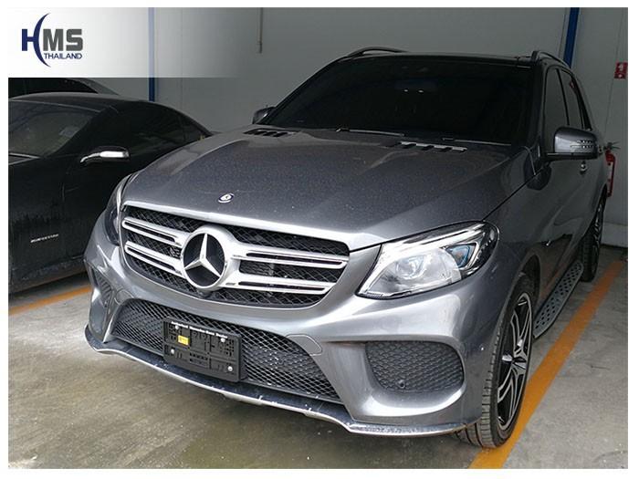 20180808 Mercedes Benz GLE500_W166_front,ติดกล้องติดรถยนต์ บน Mercedes Benz GLE500e W166 โดย HMS Thailand