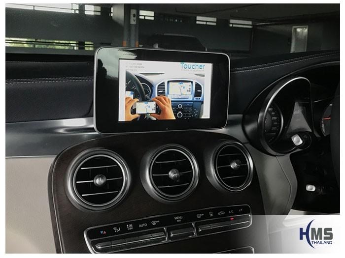 20180811 Mercedes Benz C350e_W205_Wifi box, carplay , android auto, screen mirroring, ภาพมือถือขึ้นจอรถยนต์ , Screen mirror, mirror link, car wifi display, car wifi ,