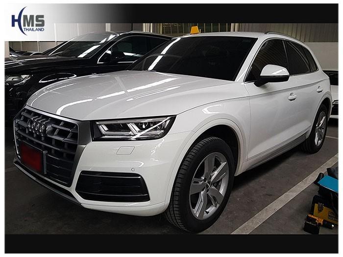 20180616 Audi Q5_front,ติดตั้งกล้องมองหลังบน Audi Q5