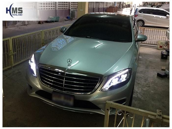 20180824 Mercedes Benz S500e_W222_front,ติดตั้งทีวีดิจิตอลบนรถ Mercedes Benz S500e W222