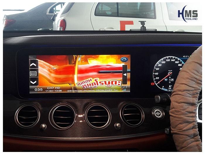 20180901 Mercedes Benz E300_W213_TV Digital_ASUKA_HR600_TV,ติดตั้งทีวีดิจิตอล ASUKA HR600 บนรถ Mercedes Benz E300e W213 โดย HMS Thailand