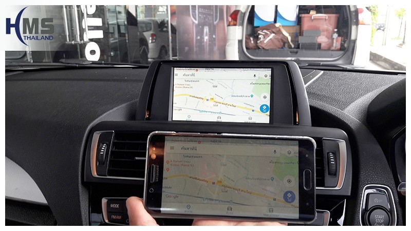 Screen Mirror ออกจอรถ BMW 118i F20,carplay , android auto, screen mirroring, ภาพมือถือขึ้นจอรถยนต์ , Screen mirror, mirror link, car wifi display, car wifi ,