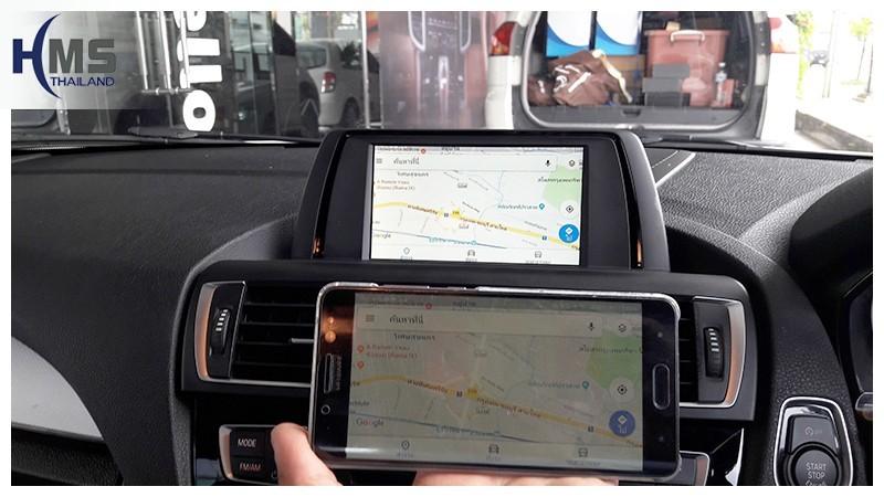 Screen Mirror ออกจอรถ BMW 118i F20,carplay , android auto, screen mirroring, ภาพมือถือขึ้นจอรถยนต์ , Screen mirror, mirror link, car wifi display, car wifi ,
