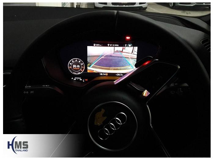 20180815 Audi TT rear camera_view,Rear camera,จอถอยหลัง,กล้องมองหลัง,กล้องถอยหลัง,หมุนตามพวงมาลัย,PAS,Park assistant system