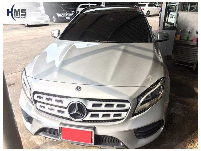 20180908 Mercedes Benz GLA250_W156_front,รถ Mercedes Benz GLA250 W156 ติดกล้องติดรถยนต์โดยทีมงาน HMS Thailand