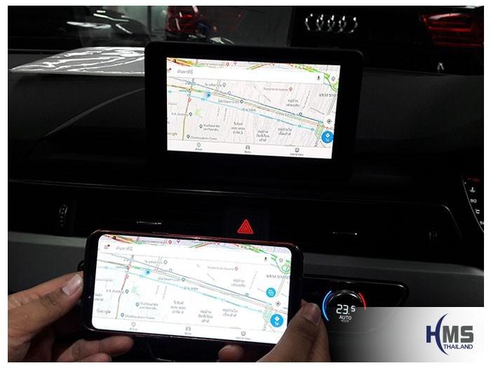 20180830 AUDI A5_Wifi box_Navigation,เล่นโปรแกรมนำทางจากสมาร์ทโฟนให้ไปออกที่หน้าจอของรถ Audi A5