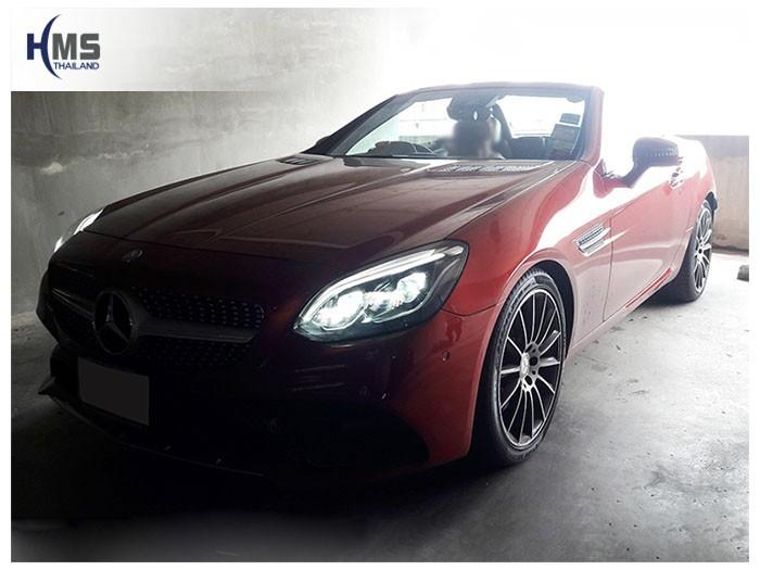 20180904 Mercedes Benz SLC300_R173_front,รถ Mercedes Benz SLK300 ติดตั้ง