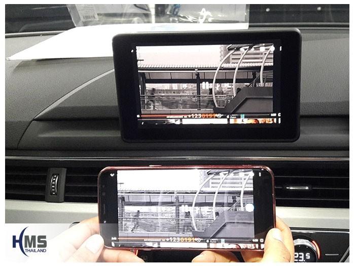 20180830 AUDI A5_Wifi box_Movie,เล่นไฟล์วีดีโอจากแอพพลิเคชั่นบนมือถือให้ไปออกที่หน้าจอรถ Audi A5