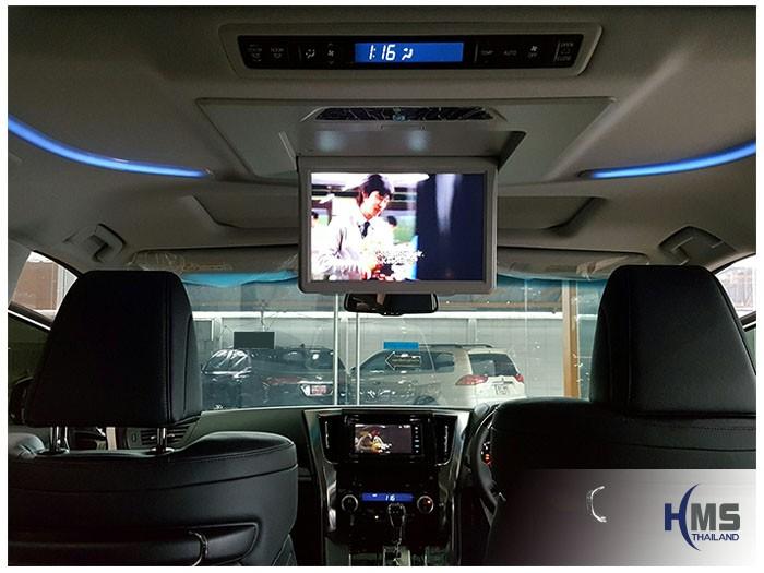 20161017 Toyota Alphard_2DIN_Kenwood_DD916WS_Roof Monitor_Decar_12