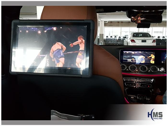 20170602 Mercedes Benz E220d_W213_Rear monitor_XM_10.1_TV_View