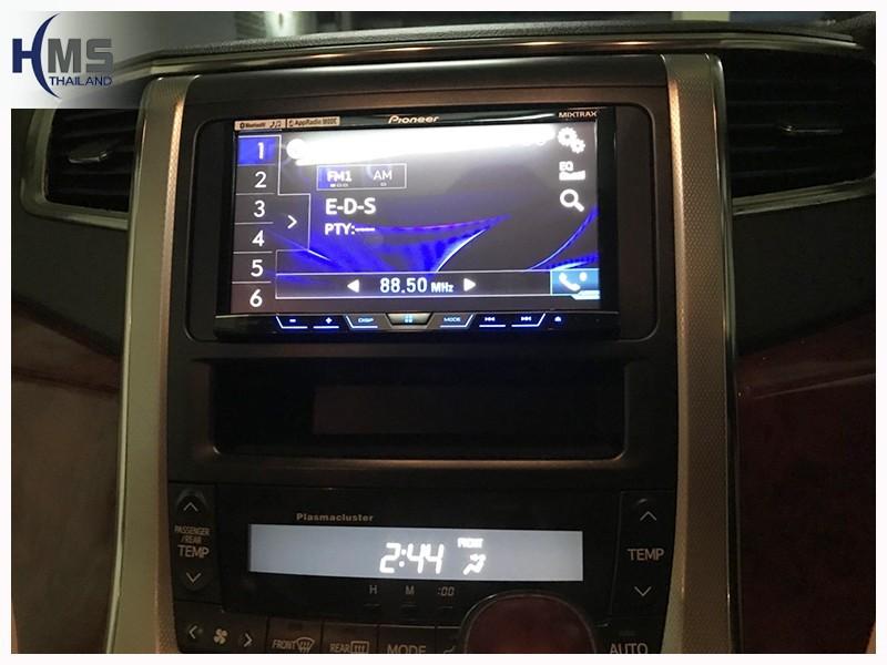20180702 xเครื่องเล่น DVD Pioneer AVH_X595bt,ติด DVD Player บน Toyota Alphard